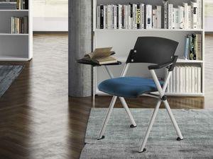 KLIC, Stapelbarer Stuhl mit Armlehnen und Tablet