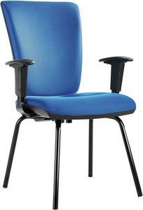 Orion 4 Beine, Konferenz- oder Gästebüro, mit gepolstertem Sitz und Rücken