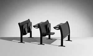 Q3000, Multifunktionales System von Tischen und Stühlen für Universitätsklassenzimmer