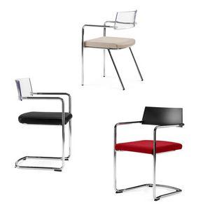 SLIM, Stapelbarer Stuhl mit gepolstertem Sitz, für Konferenzräume