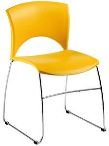 Sole, Stuhl aus Metall und Polypropylen, zum Warten und Konferenzen