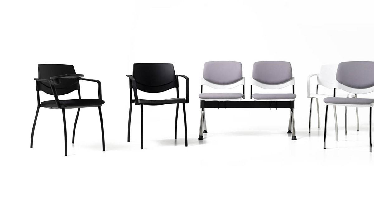 Gepolsterter Stuhl Mit Schreibplatte Ausrustbar Idfdesign