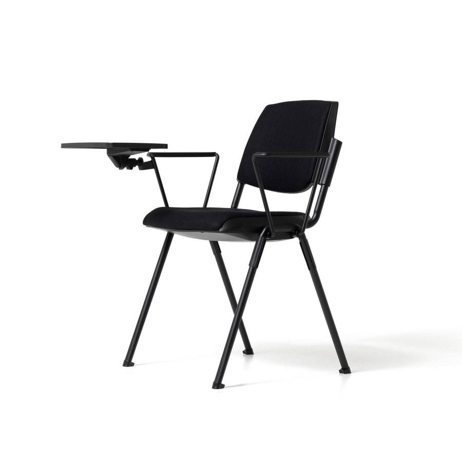 moderner stuhl mit schreibplatte f r h rsaal idfdesign. Black Bedroom Furniture Sets. Home Design Ideas