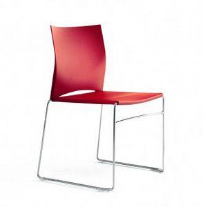 HIP UP, Stapelbarer Stuhl, um junge und informelle Umgebungen einzurichten