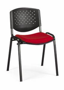 Stella fori 100, Gefüllter Stuhl für Hörsäle, stapelbar