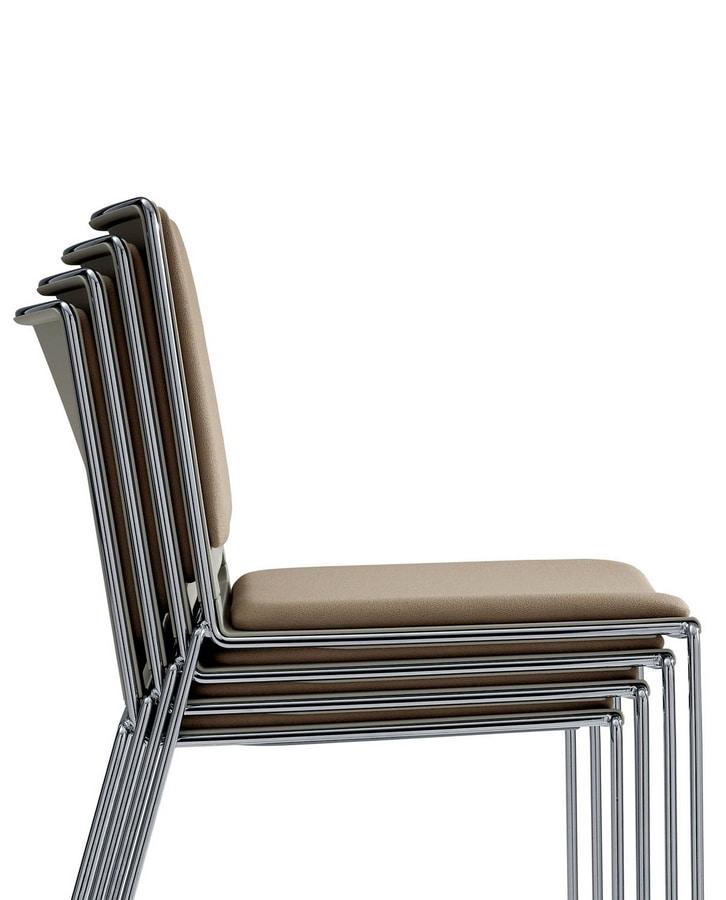 UF 170 / T, Stapelbarer Stuhl mit Armlehnen und Schreibtablett