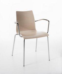 Perfecta mit Armlehnen, Stuhl mit Armlehnen, für Mehrzweckräume