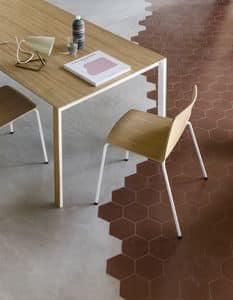 Rama Four Legs wood, Design Stuhl aus Stahl und Sperrholz, robust und langlebig