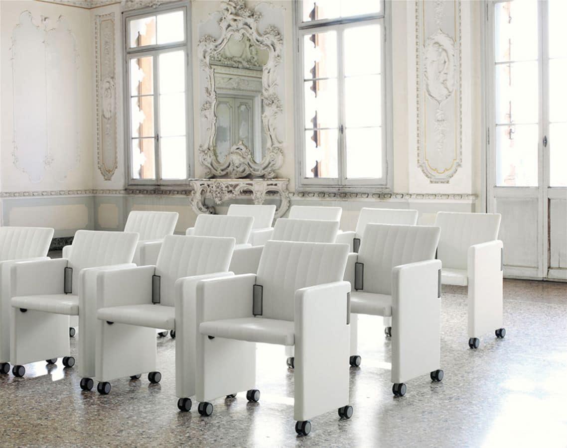 Roota, Klappstuhl für Konferenzräume, Basis mit Rädern