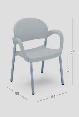 SI 32, Sessel mit Armlehnen, für Restaurants und Konferenzräume