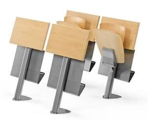 VEKTA A106, Fester Stuhl mit Schreibtisch und Bücherlager