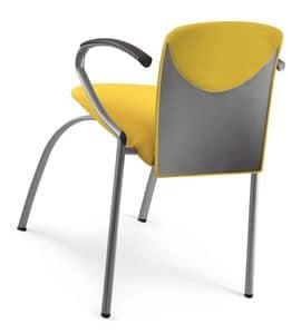 VULCAN 1288 Z, Gepolsterte stapelbarer Stuhl mit Armlehnen, in verschiedenen Farben