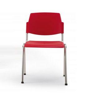 Wampa, Feuerfeste Stuhl aus Kunststoff und Metall für Konferenzräume