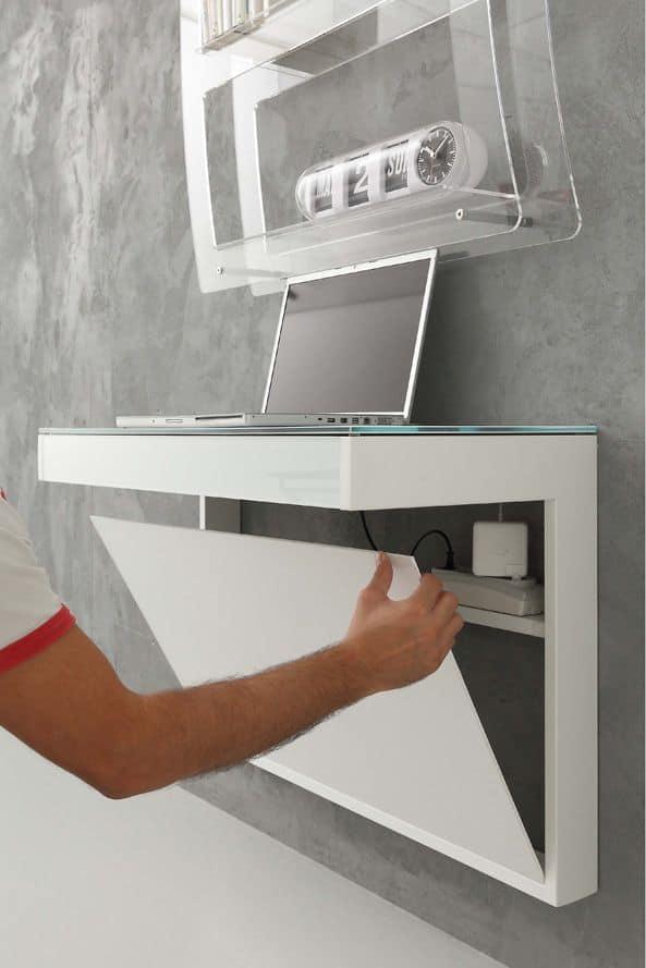 schreibtisch mit glasplatte wandmontage idfdesign. Black Bedroom Furniture Sets. Home Design Ideas