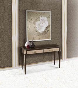 ART. 3362, Konsole mit Schubladen, Glasplatte