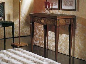 Canaletto-Konsole, Konsolentisch umwandelbar in einen Spieltisch