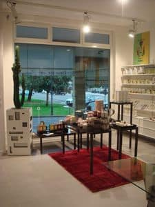 Ernesto Consolle, Metall-Konsole, ideal für Geschäfte und Heimtextilien