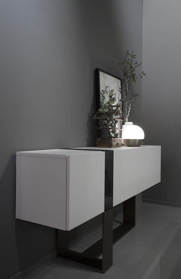 konsole f r eing nge mit kristall vase f r villen idfdesign. Black Bedroom Furniture Sets. Home Design Ideas