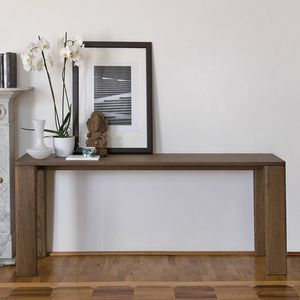 Keel Konsole, Holzkonsole, elegantes und essentielles Design