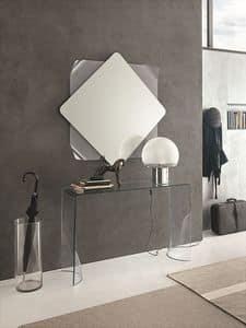 LINX COC06, Gebogenes Glas Konsole und Spiegel für moderne Umgebungen geeignet