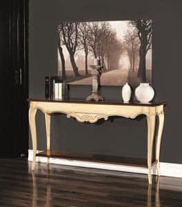 PEDRA Konsole 8673K, Holzkonsole, im neoklassischen Stil, mit Doppelboden