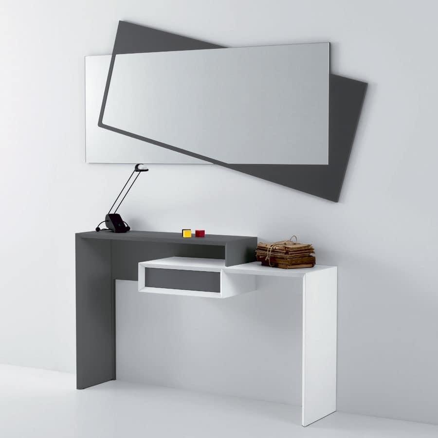 konsole in laminat mit 1 schublade f r die eingangshalle. Black Bedroom Furniture Sets. Home Design Ideas