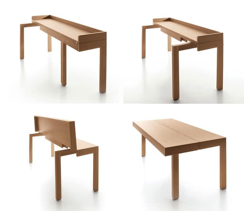 mobil eingang holzkonsole idfdesign. Black Bedroom Furniture Sets. Home Design Ideas