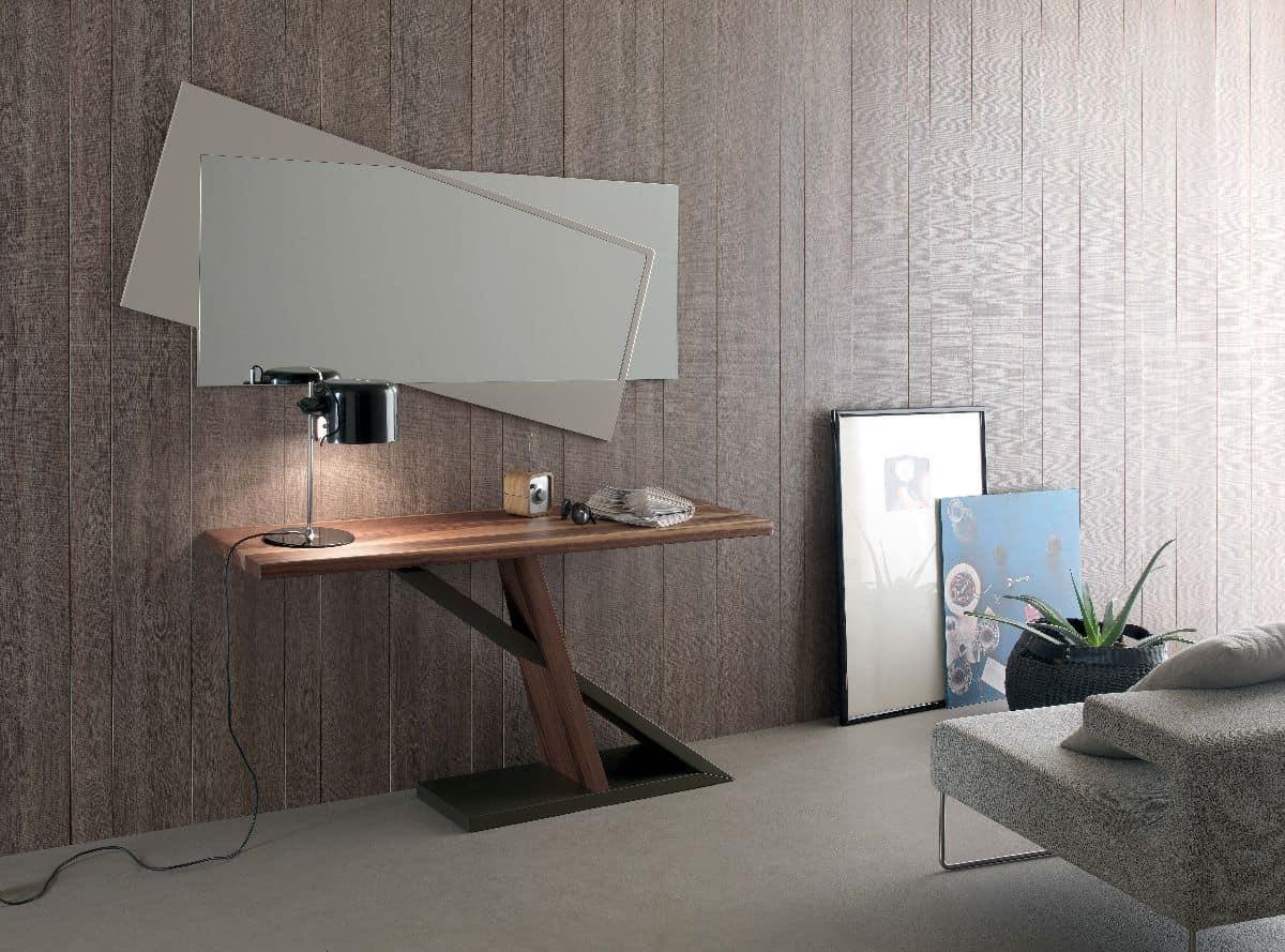 moderne konsole mit holzstruktur f r zu hause geeignet metall konsole f r eingang geeignet. Black Bedroom Furniture Sets. Home Design Ideas