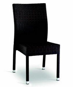 9406 Aida, Gewebter Stuhl für Bars und Restaurants im Freien