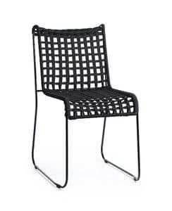 In/Out, Metallstuhl, Sitz in gewebte Seil, für innen und außen