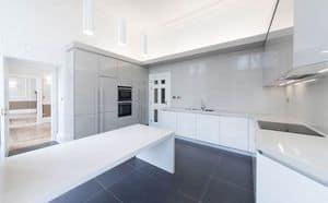 Kochen Maxi AS design, Praktische Küche, mit neuen Oberflächen und strengen Formen