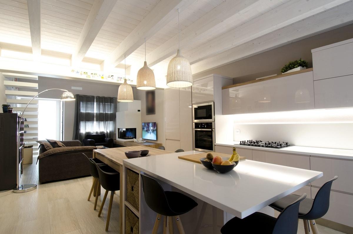 Moderne Küche ohne Griffe | IDFdesign