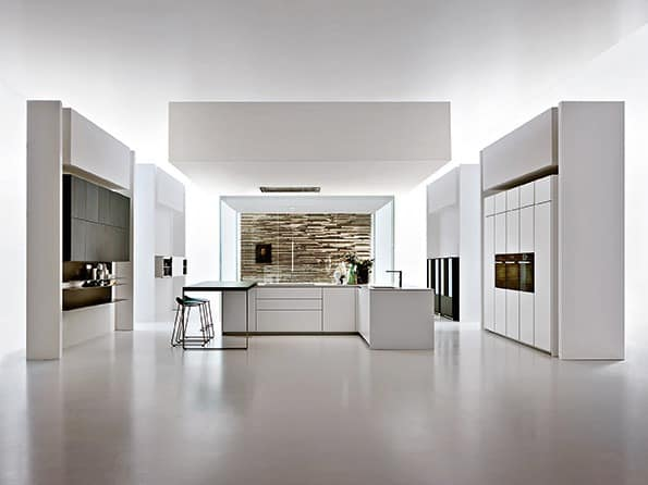 k che in einem modernen stil gestaltet idfdesign. Black Bedroom Furniture Sets. Home Design Ideas