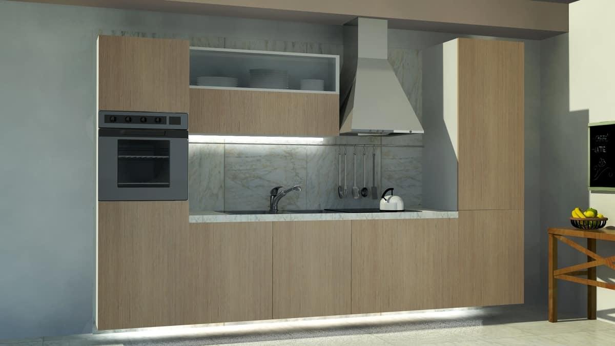 Kompakte Küche mit einem sauberen Design