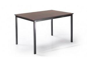 525, Tisch mit Metallbeinen und anpassbarem Oberteil