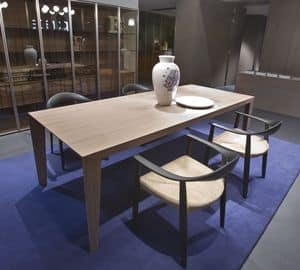 Brando, Moderner Tisch aus Holz für Küchen oder Esszimmer geeignet