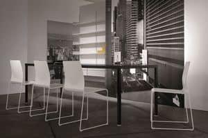 Ernesto Ice Living, Metall-Tisch, kundengerecht, für moderne Speiseräume