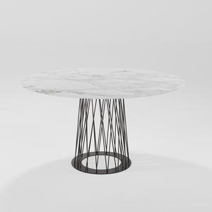 Roncisvalle, Ovaler Esstisch mit Eisengestell