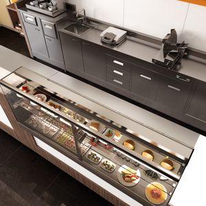 Revolution - Theken und Backcounter für Bäckereien und Cafés, Theken mit gekühlter oder beheizter Anzeigeeinheit