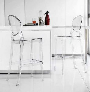 Artic-SG, Hocker aus Kunststoff, transparent oder glänzend
