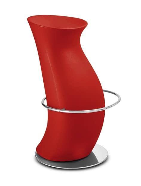 Moderne barhocker in polyethylen f r mode bar idfdesign for Moderne barhocker design