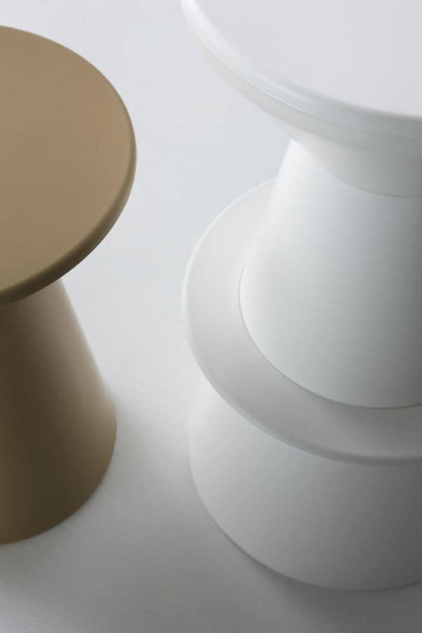 Roller, Barhocker vollständig aus Polymer, ursprünglichen Form