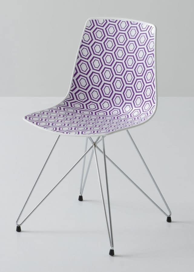 stuhl aus metall polymer sitzen f r den objektbereich idfdesign. Black Bedroom Furniture Sets. Home Design Ideas