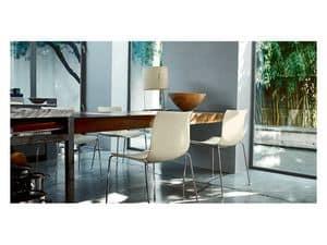 Catifa 46 0251, Stuhl in Metallrahmen, für moderne Häuser