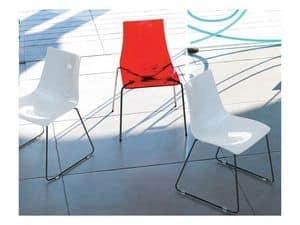 Dea Anti-Kratz 2625, Polycarbonat und Metallstuhl mit kratzfester Oberfläche