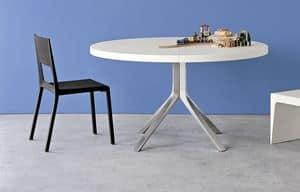 Face, Stuhl aus Aluminium und geformtem Polyurethan, leicht zu reinigen