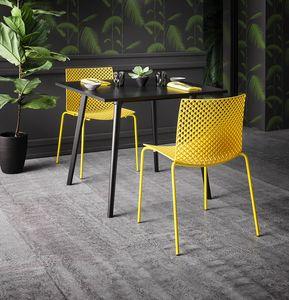 Fuller, Raffinierter Stuhl aus Kunststoff und Metall