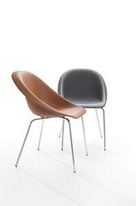 Hoop, Stuhl aus Metall und feuerhemmendem Polyurethan, auch für den Außenbereich