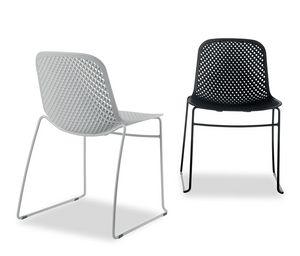 I.S.I. Chair, Stapelbarer Stuhl mit Kunststoffschale