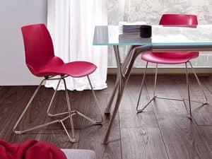 Kaleidos 3, Stuhl aus Metall und recycelbare Polymer, für Office